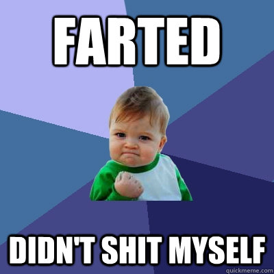 Farted Didn't shit myself - Farted Didn't shit myself  Success Kid