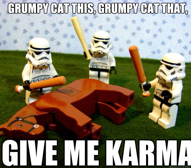 Grumpy cat this, grumpy cat that, GIVE ME KARMA - Grumpy cat this, grumpy cat that, GIVE ME KARMA  storm troopers