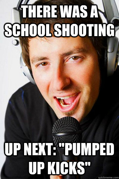 There was a school shooting Up next:
