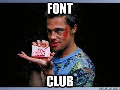 Font Club - Font Club  Fight Club Soap