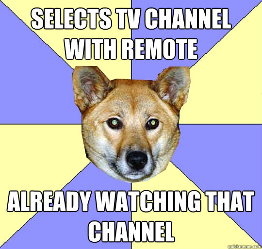 Selects tv channel with remote already watching that channel  DAE Dingo