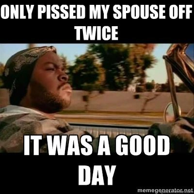 only pissed my spouse off twice - only pissed my spouse off twice  ICECUBE