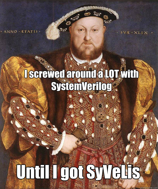 I screwed around a LOT with SystemVerilog Until I got SyVeLis