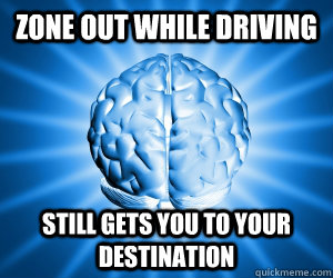 ZONE OUT WHILE DRIVING STILL GETS YOU TO YOUR DESTINATION