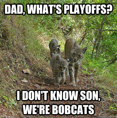 dad, what's playoffs? I don't know son, we're bobcats - dad, what's playoffs? I don't know son, we're bobcats  Misc