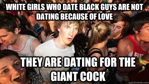 Black girl dating white male