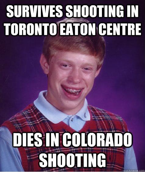 Survives Shooting In Toronto Eaton Centre Dies In Colorado