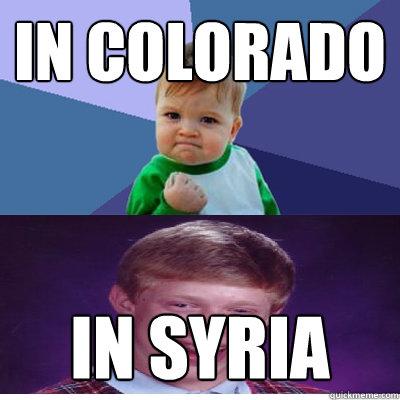 In Colorado  In Syria