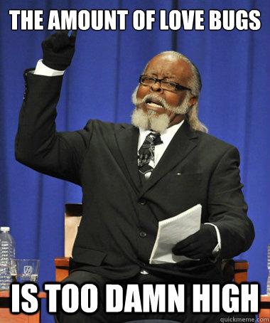 The amount of love bugs is too damn high - The amount of love bugs is too damn high  The Rent Is Too Damn High