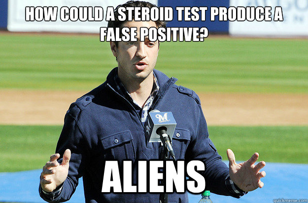 How could a steroid test produce a false positive? ALIENS - How could a steroid test produce a false positive? ALIENS  Conspiracy Ballplayer