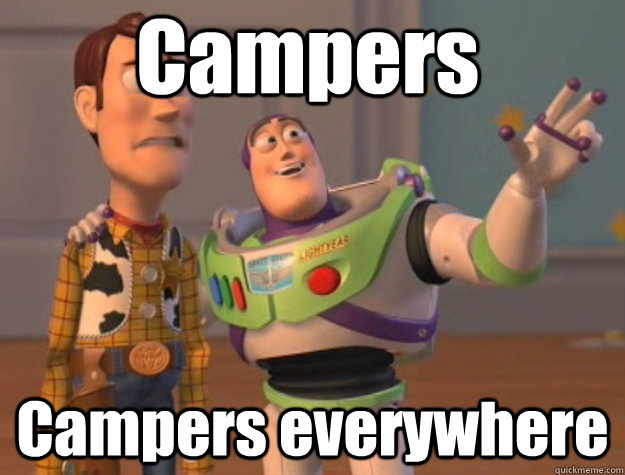 Campers Campers everywhere - Campers Campers everywhere  Pinks everywhere