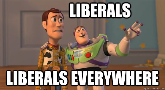 liberals liberals everywhere - liberals liberals everywhere  Toy Story Everywhere