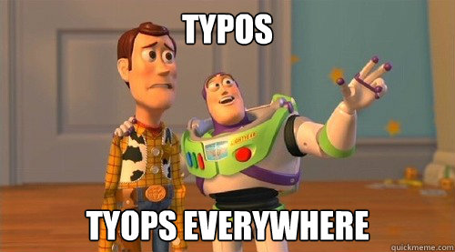 TYPOS TYops everywhere