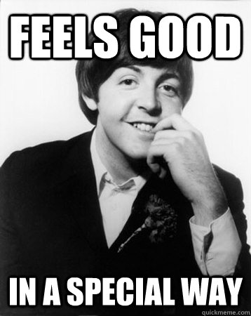 feels good in a special way  Perverted Paul McCartney