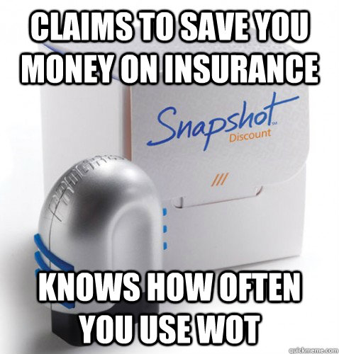 Claims to save you money on insurance knows how often you use WOT - Claims to save you money on insurance knows how often you use WOT  snapshot