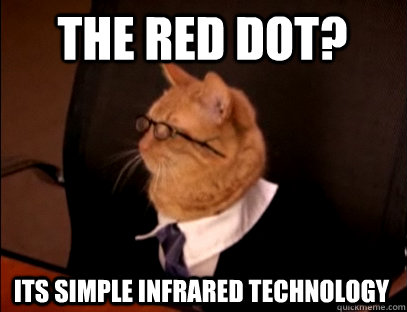 the red dot? its simple infrared technology