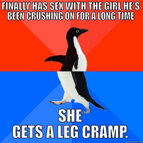 Leg cramping during sex