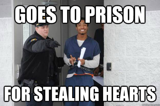 Goes to prison for stealing hearts - Goes to prison for stealing hearts  Ridiculously Photogenic Prisoner