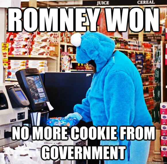 Romney won no more cookie from government - Romney won no more cookie from government  Capitalist Cookie Monster