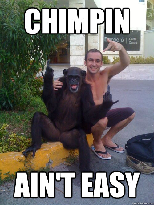 CHIMPIN AIN'T EASY - CHIMPIN AIN'T EASY  No Care Monkey