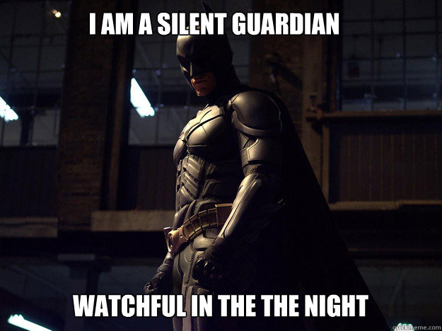 i am a silent guardian watchful in the the night