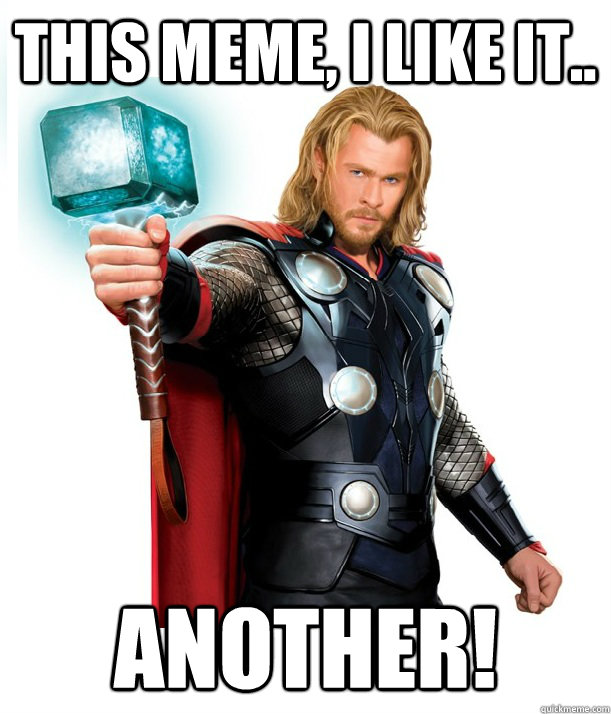 This Meme, I like it.. Another! - This Meme, I like it.. Another!  Advice Thor