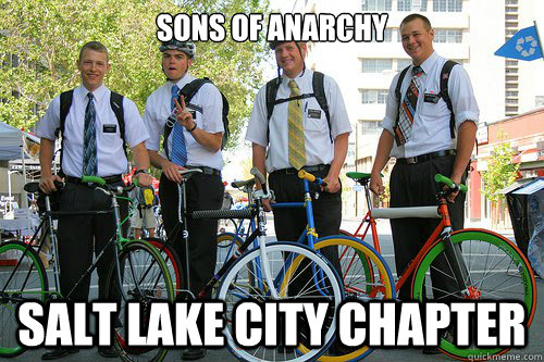 Sons of Anarchy Salt lake City chapter  mormon bikers