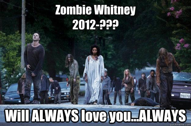 Zombie Whitney 2012-??? Will ALWAYS love you...ALWAYS - Zombie Whitney 2012-??? Will ALWAYS love you...ALWAYS  Whitney Houston