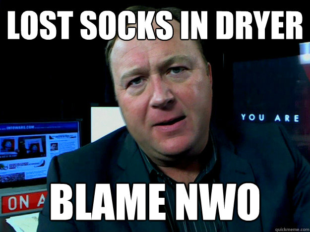 lost socks in dryer blame nwo