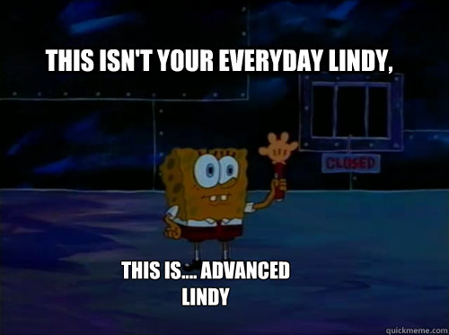 this isn't your everyday lindy, this is.... advanced lindy