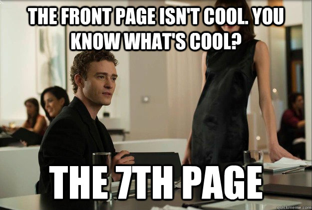 the front page isn't cool. you know what's cool? the 7th page