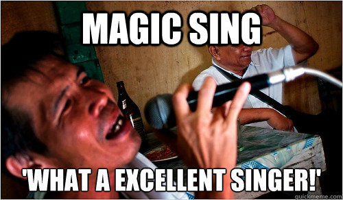 magic sing what a excellent singer! filipino karaoke memer