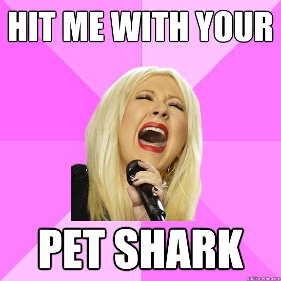 Hit me with your pet shark - Hit me with your pet shark  Wrong Lyrics Christina