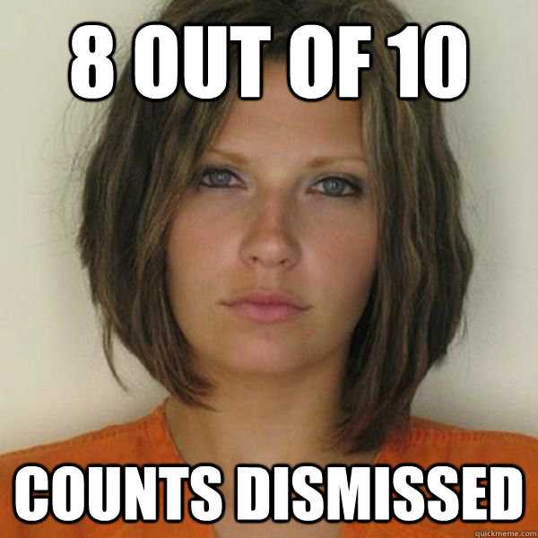 8 out of 10 counts dismissed - 8 out of 10 counts dismissed  Attractive Convict