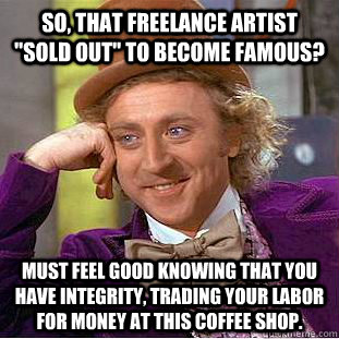 So, that freelance artist