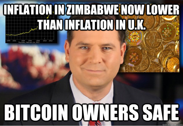 inflation in zimbabwe now lower than inflation in U.k. Bitcoin owners safe  Bitcoin owners safe