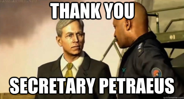 thank you secretary petraeus - thank you secretary petraeus  Misc