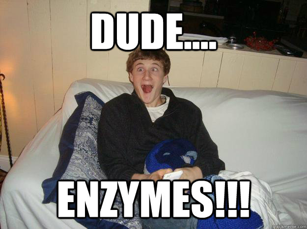 dude....  enzymes!!!