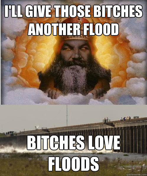 I'll give those bitches another flood bitches love floods  Bitches Love