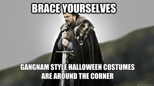 Brace Yourselves gangnam style halloween costumes are around the corner - Brace Yourselves gangnam style halloween costumes are around the corner  Ned stark winter is coming