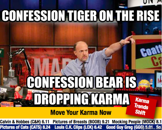 Confession Tiger on the Rise Confession Bear is dropping Karma - Confession Tiger on the Rise Confession Bear is dropping Karma  Mad Karma with Jim Cramer