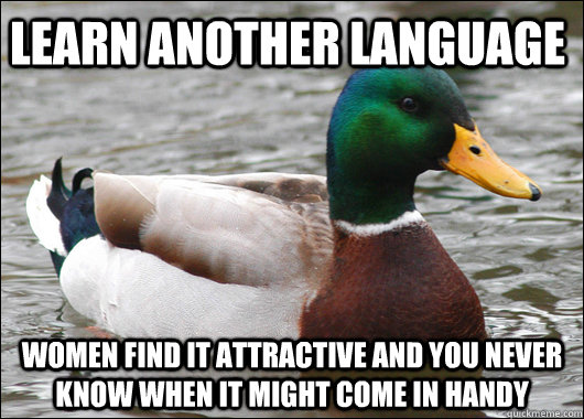 Learn another language Women find it attractive and you never know when it might come in handy - Learn another language Women find it attractive and you never know when it might come in handy  Actual Advice Mallard