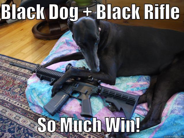 BLACK DOG + BLACK RIFLE              SO MUCH WIN!             Misc