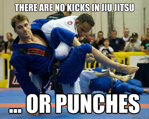 There are no kicks in Jiu Jitsu ... Or punches - There are no kicks in Jiu Jitsu ... Or punches  Ridiculously Photogenic Jiu Jitsu Guy