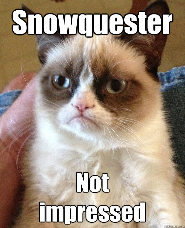 Snowquester Not  impressed