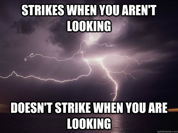 Strikes when you aren't looking doesn't strike when you are looking - Strikes when you aren't looking doesn't strike when you are looking  Misc