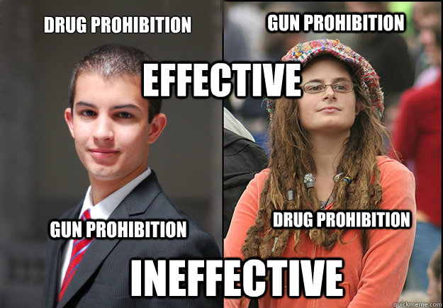 Drug Prohibition Gun Prohibition Effective Gun Prohibition Drug Prohibition Ineffective  College Liberal Vs College Conservative