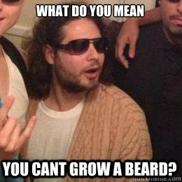 What do you mean you cant grow a beard?