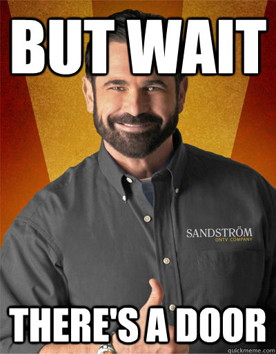 But wait there's a door   Billy Mays