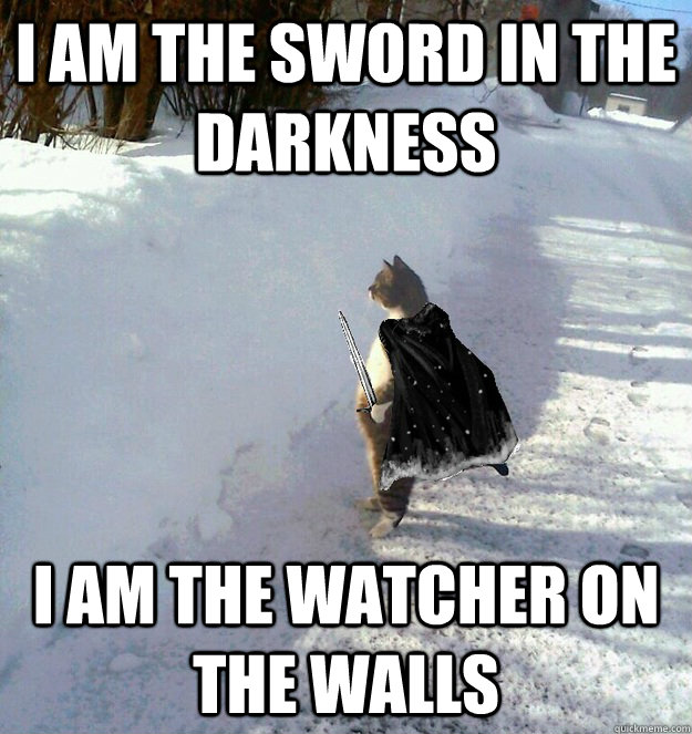 I am the sword in the darkness I am the watcher on the walls - I am the sword in the darkness I am the watcher on the walls  Misc
